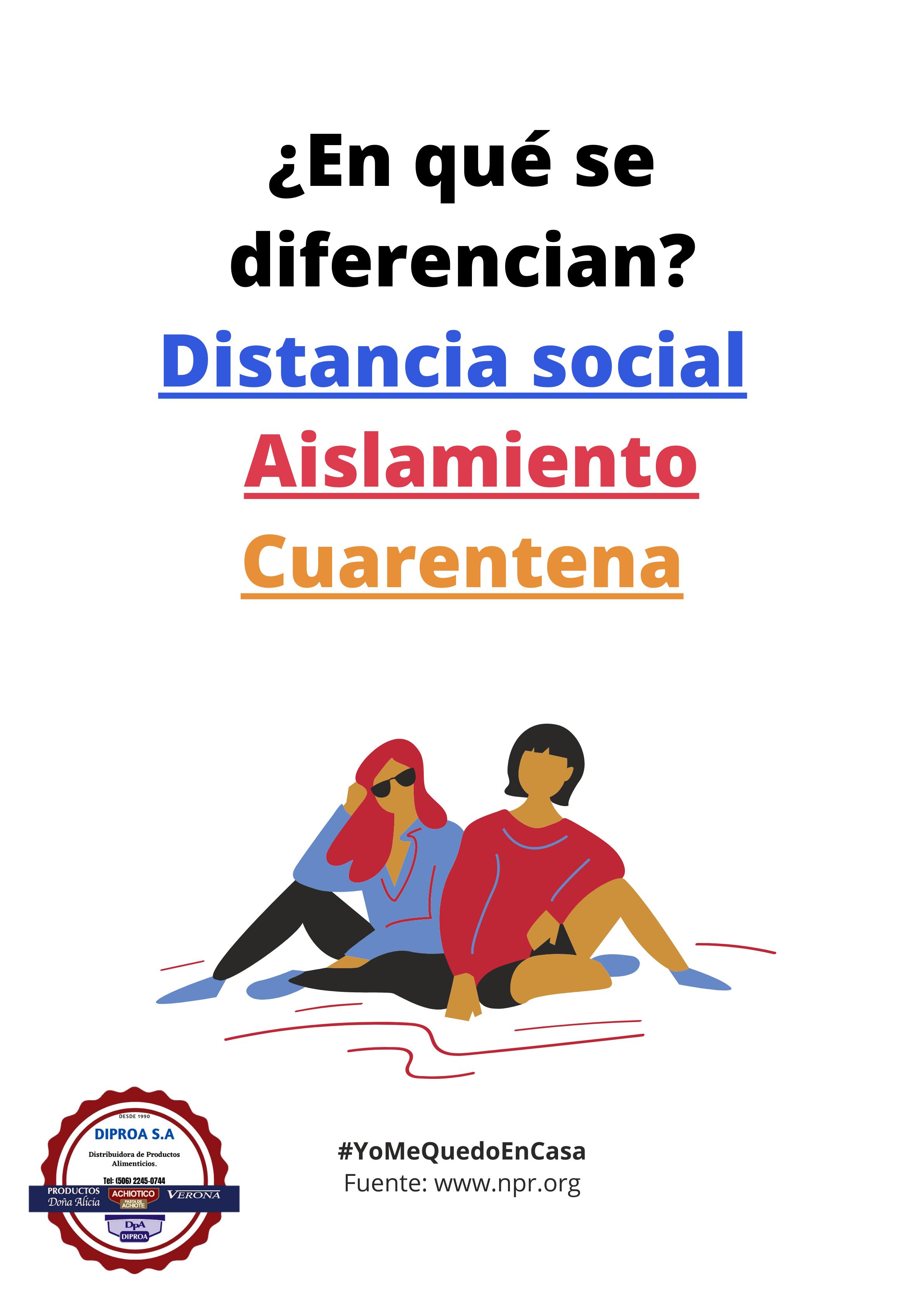 Distanciamiento Social en Costa Rica.