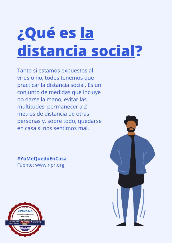 ¿Sabe usted que es el distanciamiento social?
