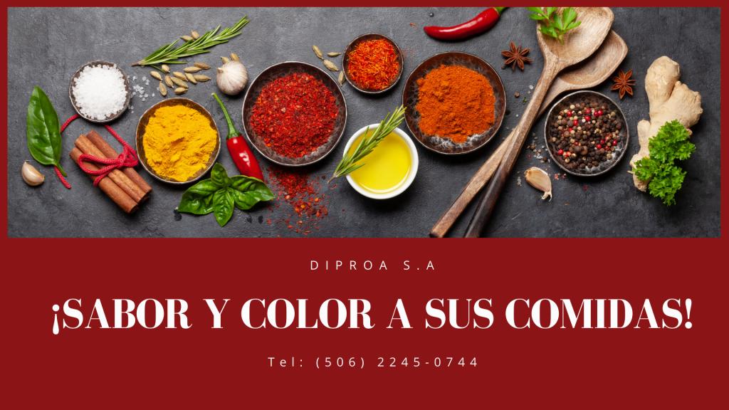 DIPROA S.A ¡Sabor y color a sus comidas!