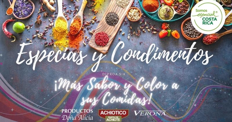 Condimentos y especias en Costa Rica