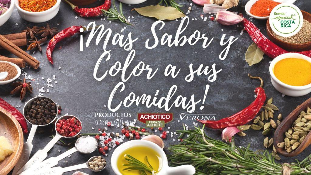 ¡Más Sabor y Color a sus Comidas!