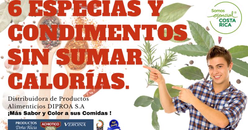 Especias y condimentos en Costa Rica