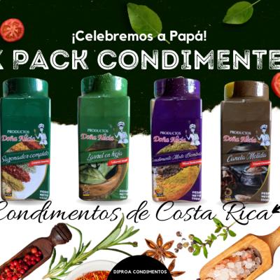 Six Pack Condimentero